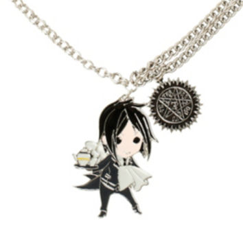 Black Butler Sebastian Chibi Necklace