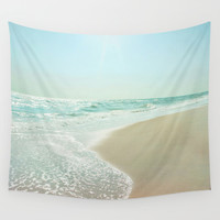 Good Morning Beautiful Sea Wall Tapestry by Bella Blue Photography