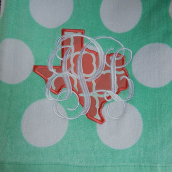 Texas Personalized Beach Towel