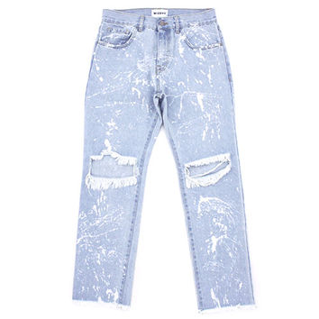 MISBHV KURT LIGHT JEANS RIPPED / L.BLUE