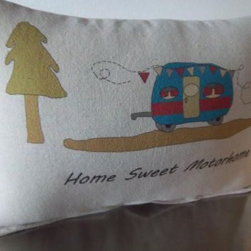 RV cushion camper pillow new motorhome throw pillow retirement gift