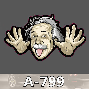 A-799 Einstein Fashion Cool DIY Stickers For Laptop Luggage Fridge Skateboard Car Graffiti Cartoon Sticker