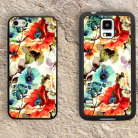 Floral Patterns iPhone Case-iPhone 5/5S Case,iPhone 4/4S Case,iPhone 5c Cases,Iphone 6 case,iPhone 6 plus cases,Samsung Galaxy S3/S4/S5-115