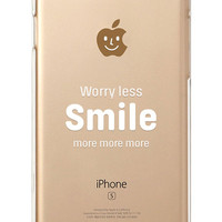 iPhone Rubber Case - Smile More - iPhone 6s case, iPhone 6 case, iPhone 6s+ case, iPhone 6+ - Clear Flexible Rubber Silicone TPU case IC10