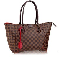 LV Authentic Louis Vuitton Damier Caissa Tote MM Handbag Article:N41548 Made in France