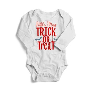 Little Miss Trick or Treat Halloween Baby Long