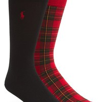 Men's Polo Ralph Lauren Tartan Crew Socks (2-Pack)