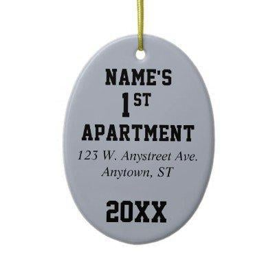 My First Apartment, House or Condo Christmas Ornament from Zazzle.com