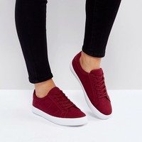 ASOS DEVLIN Wide Fit Lace Up Trainers at asos.com