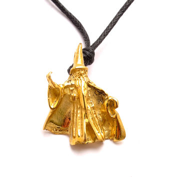 Wizard Merlin Gandalf Handmade Brass Necklace Pendant Jewelry