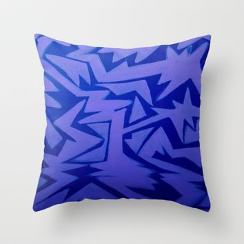 Electric Pop Throw Pillow by Ducky B