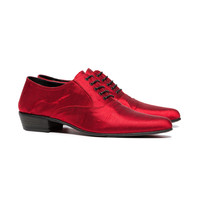 Haider Ackermann Red 35 Silk Brogues - Farfetch