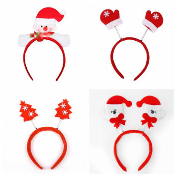 Hot New Cute Christmas Decoration Santa Snowman Antlers Hair Band Headband Merry Xmas Festival Party Props ——Christmas Gift