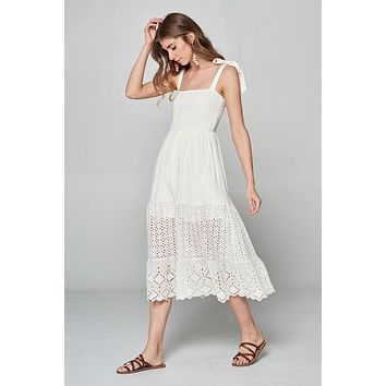 Under The Sun Midi Dress - Off White