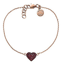 Michael Kors Brilliance Delicate Pave Heart Chain Bracelet