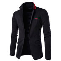 Dotted Design Detail Men's Fashion Blazer