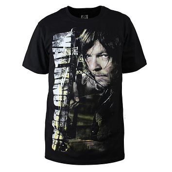 Fashion Men T Shirts The Walking Dead New Daryl Dixon T-Shirt Cotton O Neck Top Tees Cotton Camisetas Summer