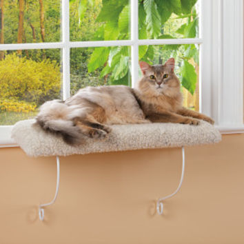 Whisker City Cozy Kitty Cushioned Window Perch