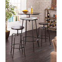 Holly & Martin Kalomar 3pc Adjustable Pub Table & Stools by Southern Enterprises