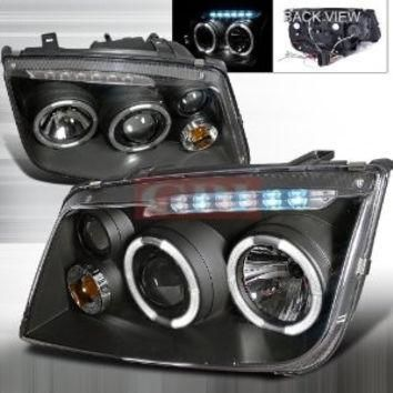 VOLKSWAGEN 99-04 JETTA PROJECTOR HEADLIGHT BLACK HOUSING performance conversion kit 1