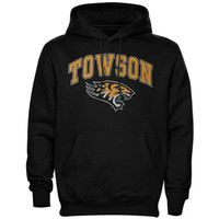 Towson Tigers Arch Over Logo Hoodie – Black