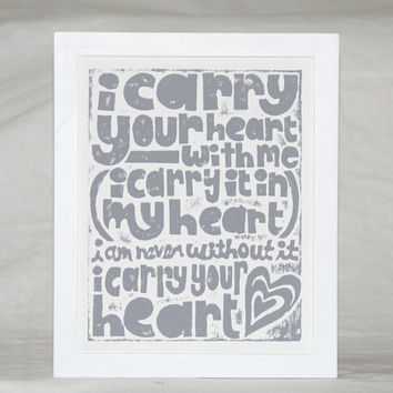 i carry your heart mothers day baby nursery by rawartletterpress