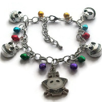 Christmas in July - Nightmare Before Christmas Themed Charm Bracelet - Jack Skellington