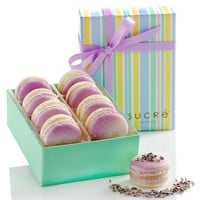 White Chocolate Lavender Macaron Collection, 8 Piece