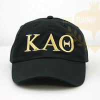 Kappa Alpha Theta Greek Only Sorority Baseball Cap - Custom Color Hat and Embroidery.