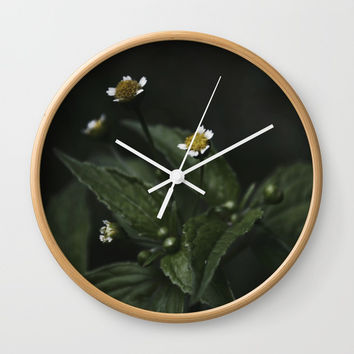 Botanical Still Life Chamomile Wall Clock by ARTbyJWP