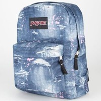 JanSport Black Label Superbreak (Multi Distressed Denim )