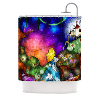"Mandie Manzano ""Fairy Tale Alice in Wonderland"" Shower Curtain - Outlet Item"