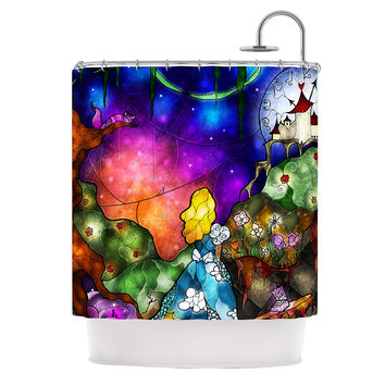 "Mandie Manzano ""Fairy Tale Alice in Wonderland"" Shower Curtain"