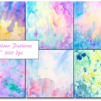 Watercolour Abstract art - large watercolor abstract art, watercolor background instant download for scrapbook, wall art, fabric printing