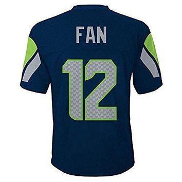 Seattle Seahawks 12th Fan Nfl Youth Mid Tier Team Jersey Navy