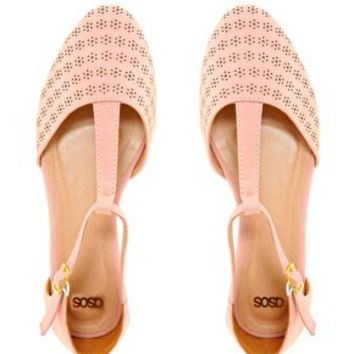 ASOS JEMIMA Flat Shoes with T-bar at asos.com