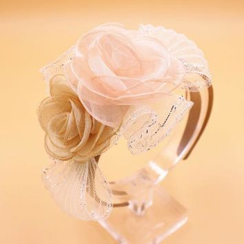 Girls&women Beautiful Chiffon Flower Grace Hairbands Kids Headbands Children Hair Hoop Tiara Hair Accessories