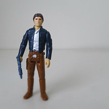 Star Wars Action Figure, Han Solo in Bespin Gear, 1980s Kenner - Empire Strikes Back, classic toy, galaxy, sci fi, movie toy