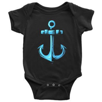 Living You Co. Anchor Onesuit | Sailing Anchor Onesuit, Anchor Baby Onesuit, Sailing Anchor Baby Onesuit | Keep Your Baby Warm and Comfy | Newborn, 6M, 12M, 18M, 24M | 100% Cotton