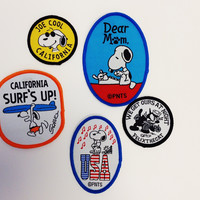 Vintage Peanuts Iron On Patches