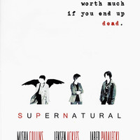 Minimalist Supernatural Poster cosplay by CelestialOtter on Etsy