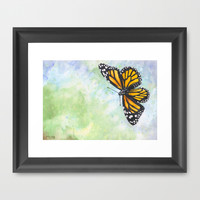 Papillon Monarque / Monarch Butterfly Framed Art Print by Savousepate