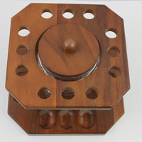 Vintage Tobacco Pipe Stand with Humidor