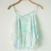 Summer New Women Sexy Sleeveless Chiffon Blouse Casual Loose Vest Tank Tops