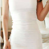 Fitted Bodycon Dress - White