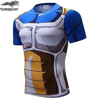 HIGH QUALITY CLASSIC ANIME DRAGON BALL Z SUPER SAIYAN 3D T SHIRT VEGETA GOKU FITNESS TIGHTS WOMEN MEN CASUAL TEE SHIRTS