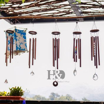 H&D Chakra Outdoor Living Wind Chimes Yard Antique Amazing Garden Tubes Bells Copper Home Windchime Wall Hanging Home Decor