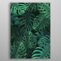 Tropical leaves on dark backgr... by Jace Anderson | Displate