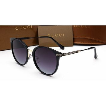 Gucci Chanel Women Casual Sun Shades Eyeglasses Glasses Sunglasses Black G