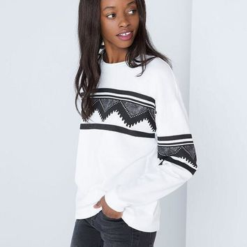 Women Fleece Sweaters Brand New Casual Long Sleeve Round Neck Lovely Printed Pullovers Plus Size